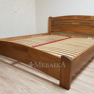 Ліжко з дерева Венеція Люкс - світлий горіх