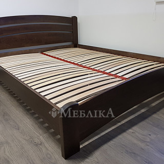 Дерев'яне ліжко Венеція Люкс - темний горіх