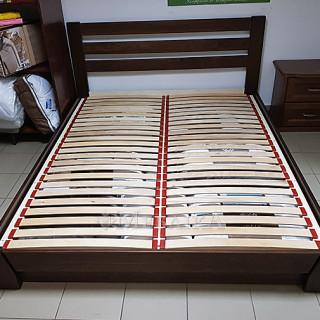 Ліжко з підйомним механізмом Селена- темний горіх