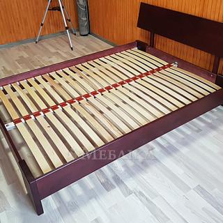 Дерев'яне ліжко Титан фабрика Естелла - махагон