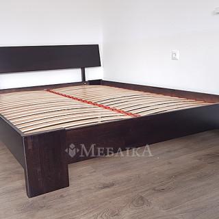 Ліжко Титан з бука - венге
