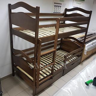 Двох'ярусне ліжко Вінні Пух Дрімка 80x190- 120