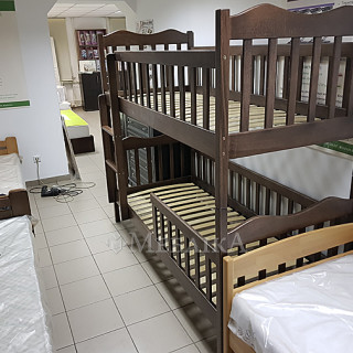 Дерев'яне двох'ярусне ліжко Рукавичка