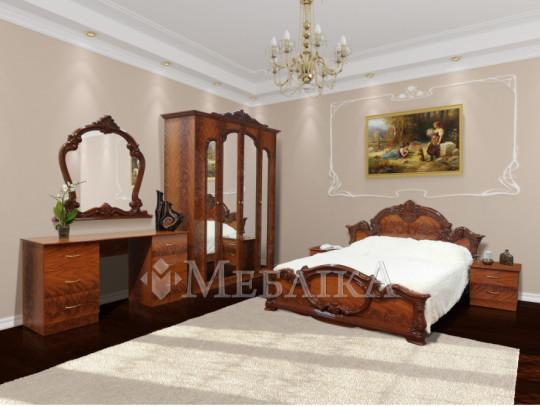 Розкішний спальний комплект Імперія у стилі бароко