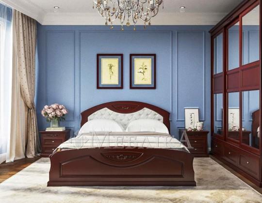 Вільхове двоспальне ліжко Грація – міцність на довгі роки