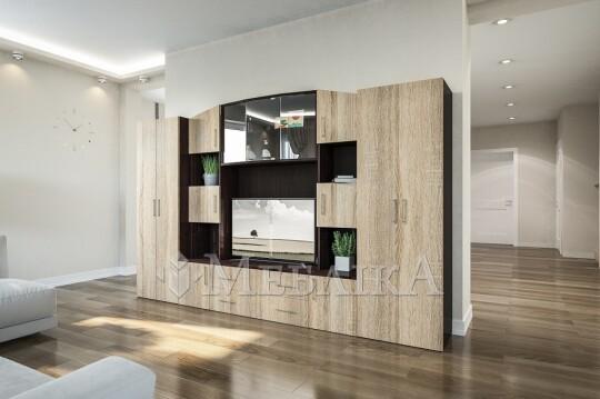 Меблі для вітальні Фабіана із шафами для речей
