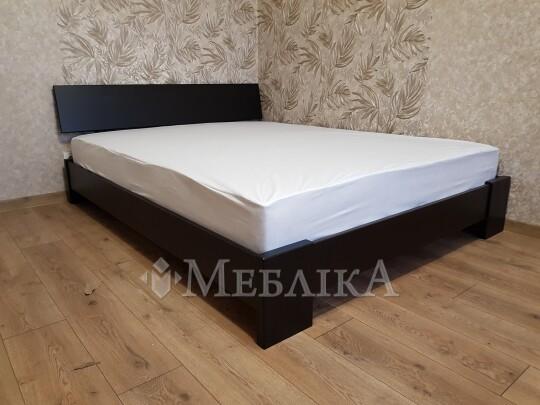 Модернове двоспальне ліжко з бука Титан