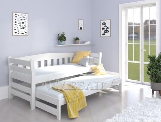 Підліткове ліжко з дерева на два спальні місця Тедді Дуо