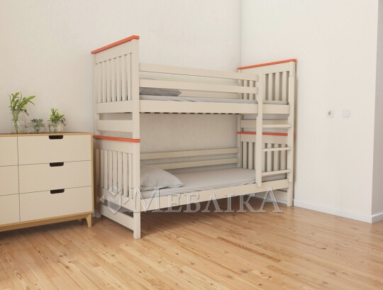 Зручне двоярусне ліжко-трансформер Адель Дуо  з високими спинками
