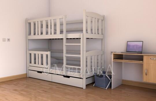 Букове двоярусне ліжко-трансформер Челсі