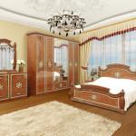 Пишний і розкішний спальний комплект Жасмін білий або піно горіх