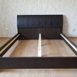 Ліжко Токіо зі шкіряною вставкою в узголів'ї