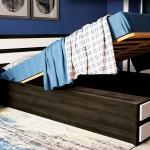 Дерев'яне ліжко Карпати ПМ з підйомним механізмом