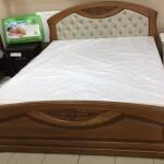 Нове вільхове двоспальне ліжко Грація – міцність на довгі роки