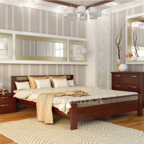 Вишукане букове ліжко Афіна з металевим орнаментом
