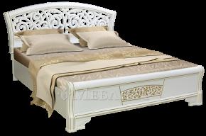 Ліжко Поліна Нова з різьбленою спинкою