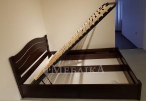 Елегантне та практичне букове ліжко з нішею для білизни на підйомному механізмі Еденія