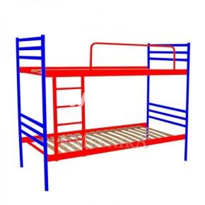 Металеве двоярусне ліжко з ортопедичними ламелями