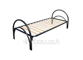 Односпальне металеве ліжко Стандарт з ортопедичними ламелями