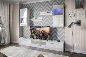 Сучасні меблі для вітальні Челсі з тумбами й полицями
