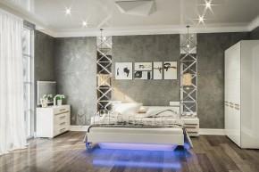 Біла МДФ спальня Б'янко з можливість комплектацією різними елементами