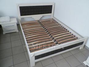 Дубове ліжко Фортуна з м'якими вставками в спинках
