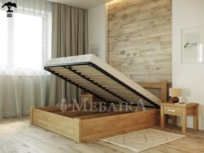 Букове ліжко з підйомним механізмом Соня