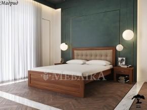 Букове ліжко Мадрид 20 з неоднаковою товщиною і виглядом спинки