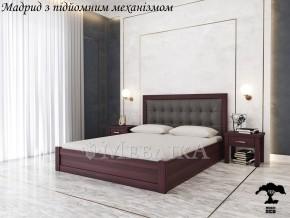 М'яке дерев'яне ліжко Мадрид 20 з підйомним механізмом