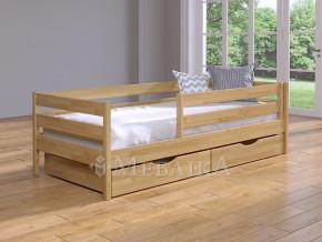 Букове дитяче ліжко Нота з захистом від стіни