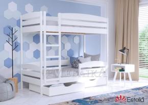 Букове ліжко двоярусне Дует плюс з випуклими формами