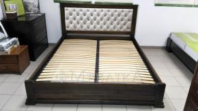 Букове ліжко Лорд М з м'якою спинкою різної товщини