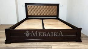 Дерев'яне ліжко Лорд М з м'якою спинкою та підйомним механізмом