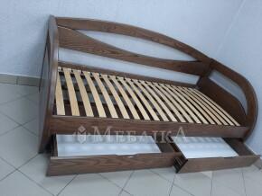 Односпальне ліжко Баварія з шухлядами на направляючих