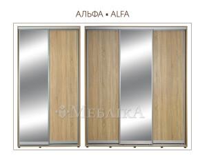 Якісна шафа-купе Альфа на двоє чи троє дверей з багатьма полицями
