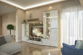 Меблі для вітальні Альба у світлих кольорах від фабрики Світ Мбелів