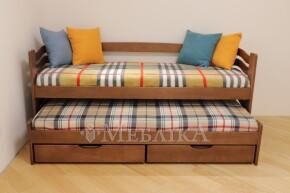 Букове ліжко Мальвіна з висувним спальним місцем