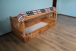 Односпальне дерев'яне ліжко з підйомним механізмом Немо