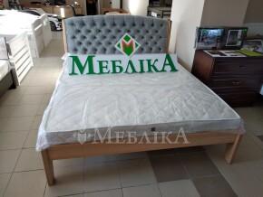 Букове ліжко з м'яким узголів'ям каретної стяжки Токіо Нове