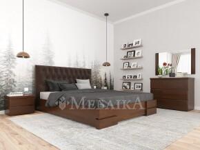 Дерев'яне ліжко з оббивкою Камелія Ромб з підйомним механізмом або без нього