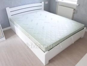 Дерев'яне ліжко з масиву ясена Сідней з підйомним механізмом