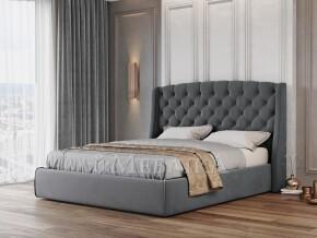 Стильне м'яке ліжко Прага з високим заокругленим узголів'ям