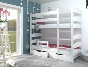 Двоярусне ліжко-трансформер Лаккі – розкладається на окремі ліжка