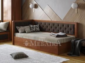 Односпальне ліжко з підйомним механізмом та оббивкою Немо Люкс М2